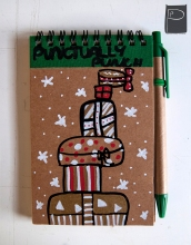 xmas_handdrawn_unique_pattern_notebook_recycled_2_presents